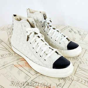 Converse All Star Leather High Top Sneakers & Zip